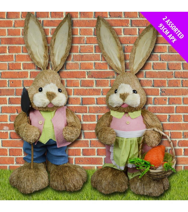 Easter Textured Bunny 93cm Assorted