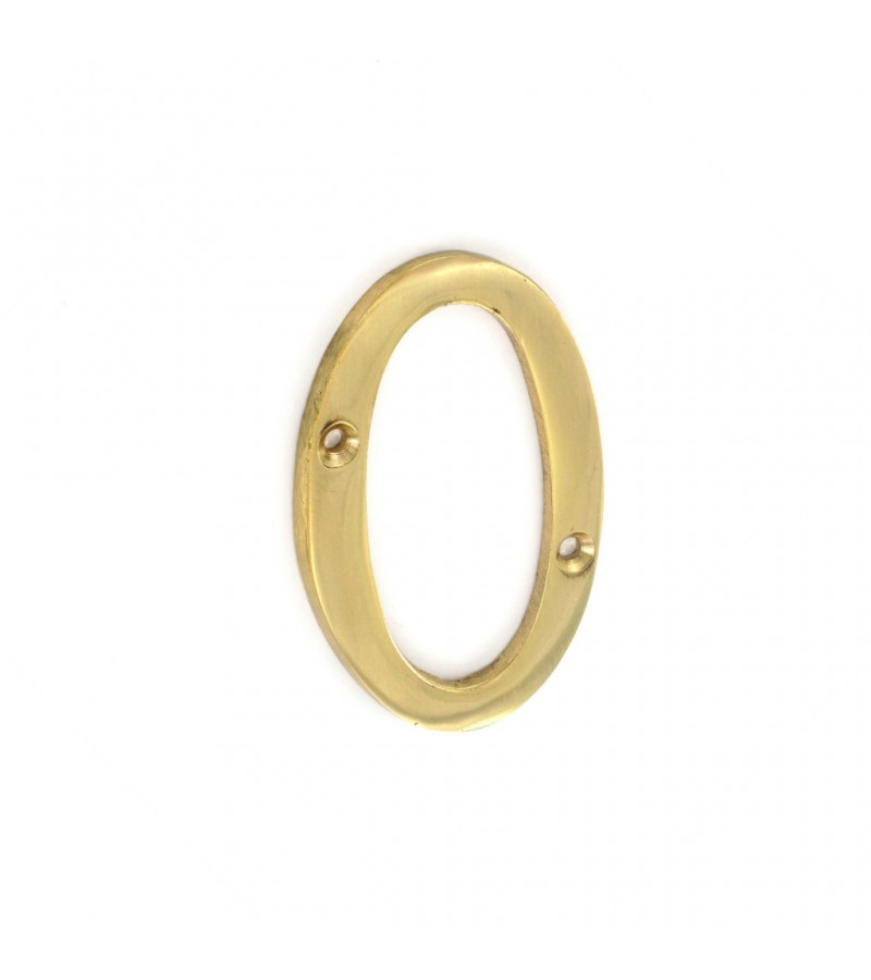 Securit S2500 Brass Numeral 0 75mm