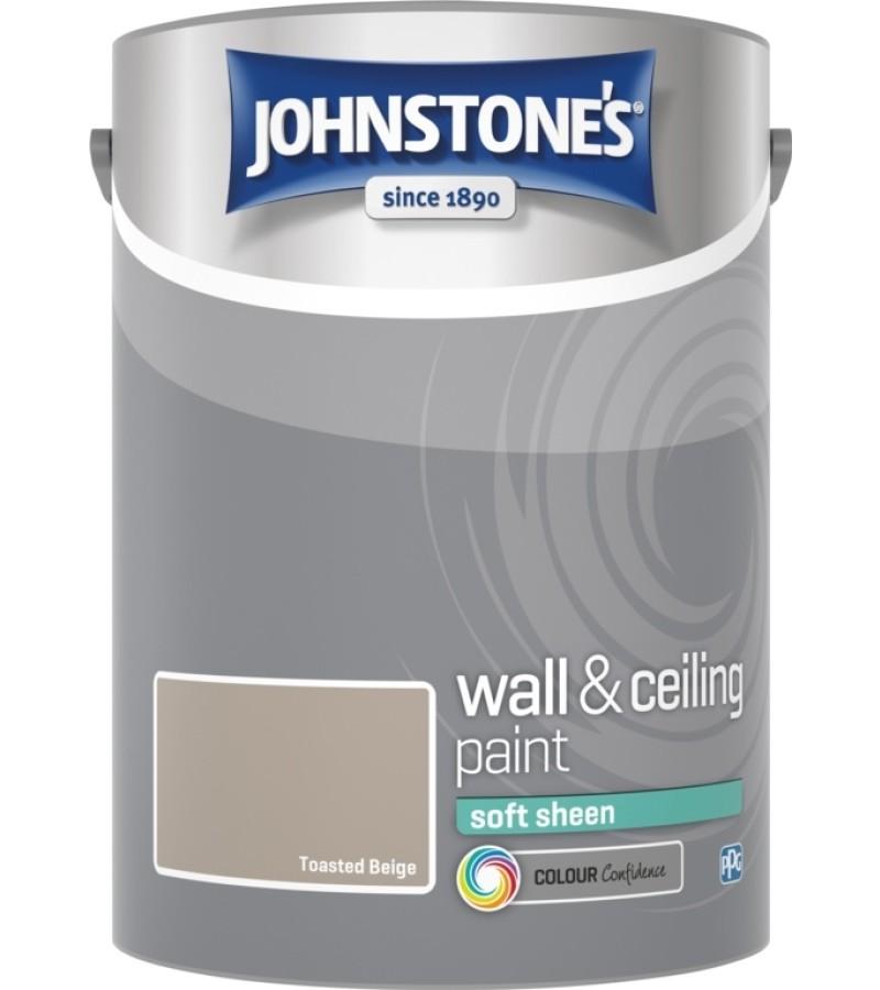 Johnstones Vinyl Emulsion Paint 5L Toasted Beige (Soft Sheen)
