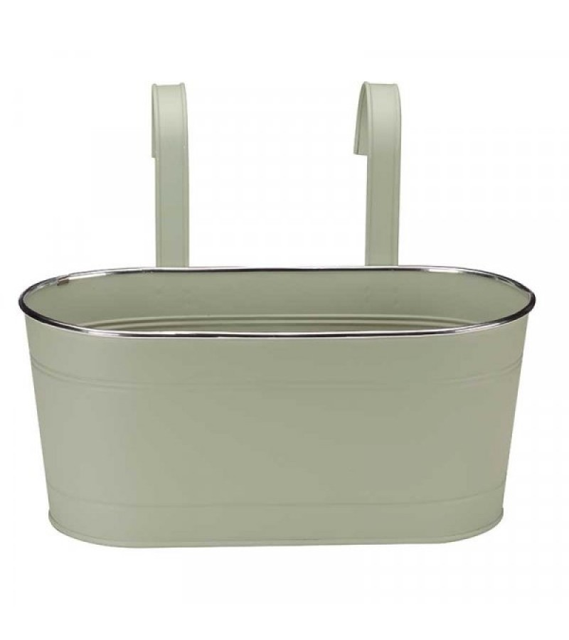 12in Fence & Balcony Hanging Planter - Sage