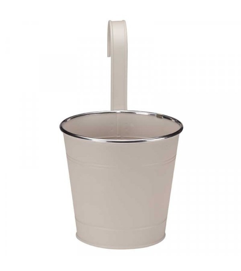 6in Fence & Balcony Hanging Pot - Ivory