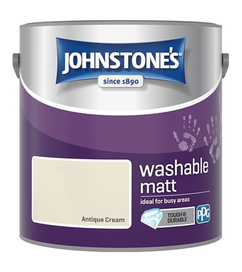 Johnstones Washable Emulsion Paint 2.5L Antique Cream