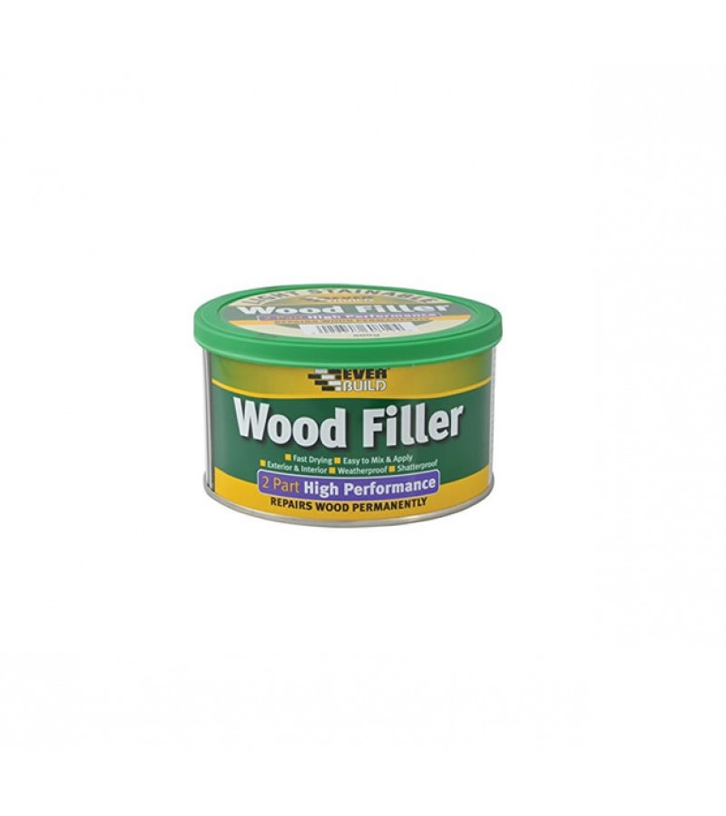 Everbuild 2-Part High Performance Wood Filler 500g Light Stain