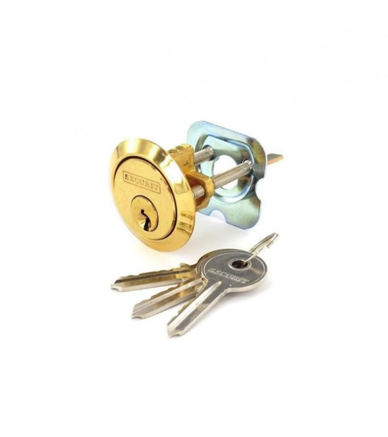 Securit S1750 Polished Brass Spare Cylinder With 3 Keys (Universal)