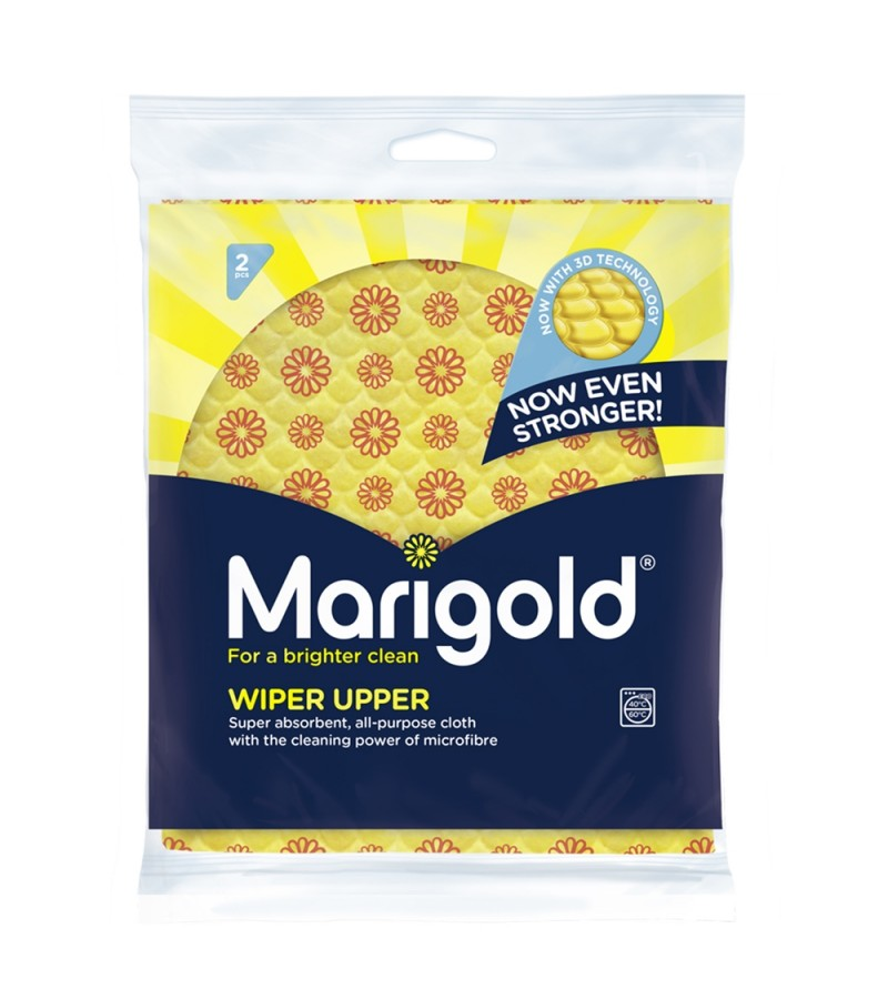 Marigold Wiper Upper Multi-Purpose Cloths 2pk