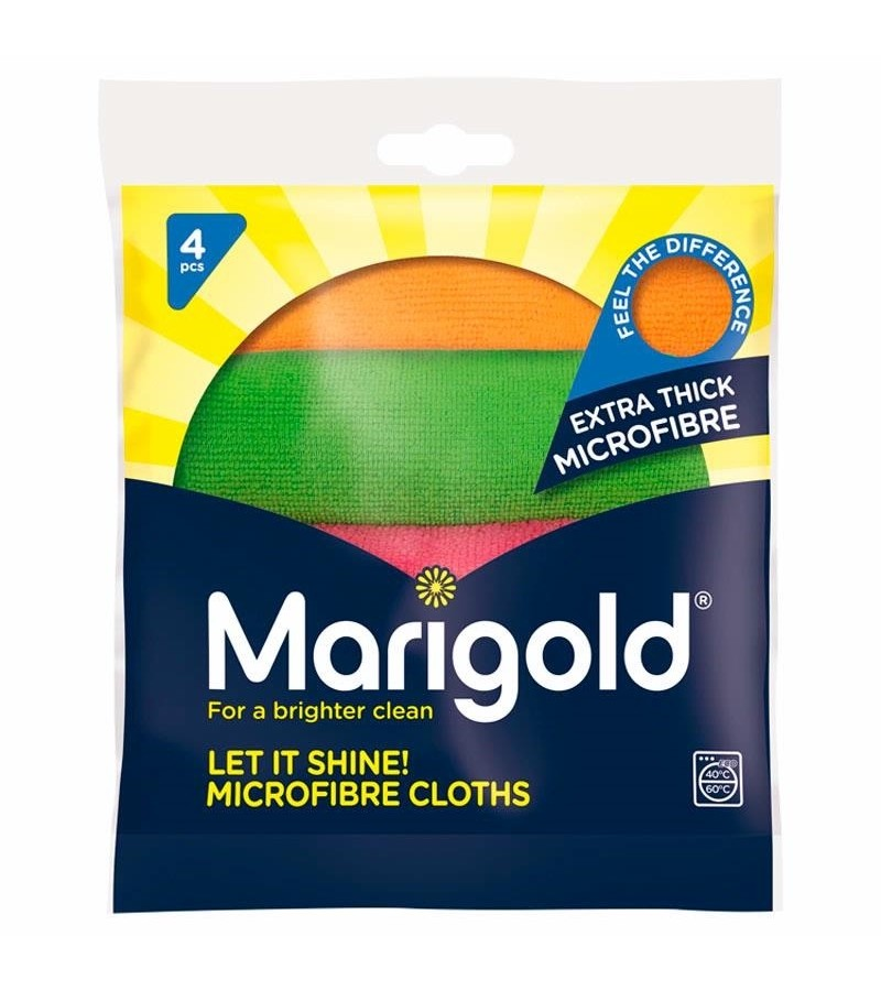 Marigold Let It Shine! Microfibre Cloths 4pk