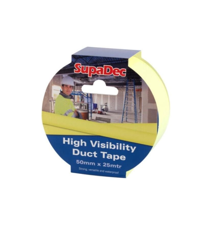 SupaDec Hi-Vis Duct Tape (50mm X 25m) SDHV50