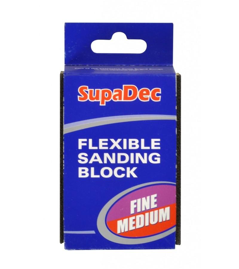 Supadec Fine/Medium Flexible Sanding Block 1