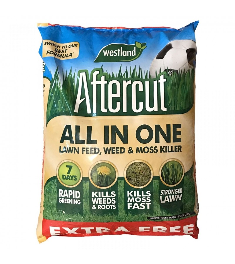 Aftercut All In One Lawn Feed, Weed & Moss Killer