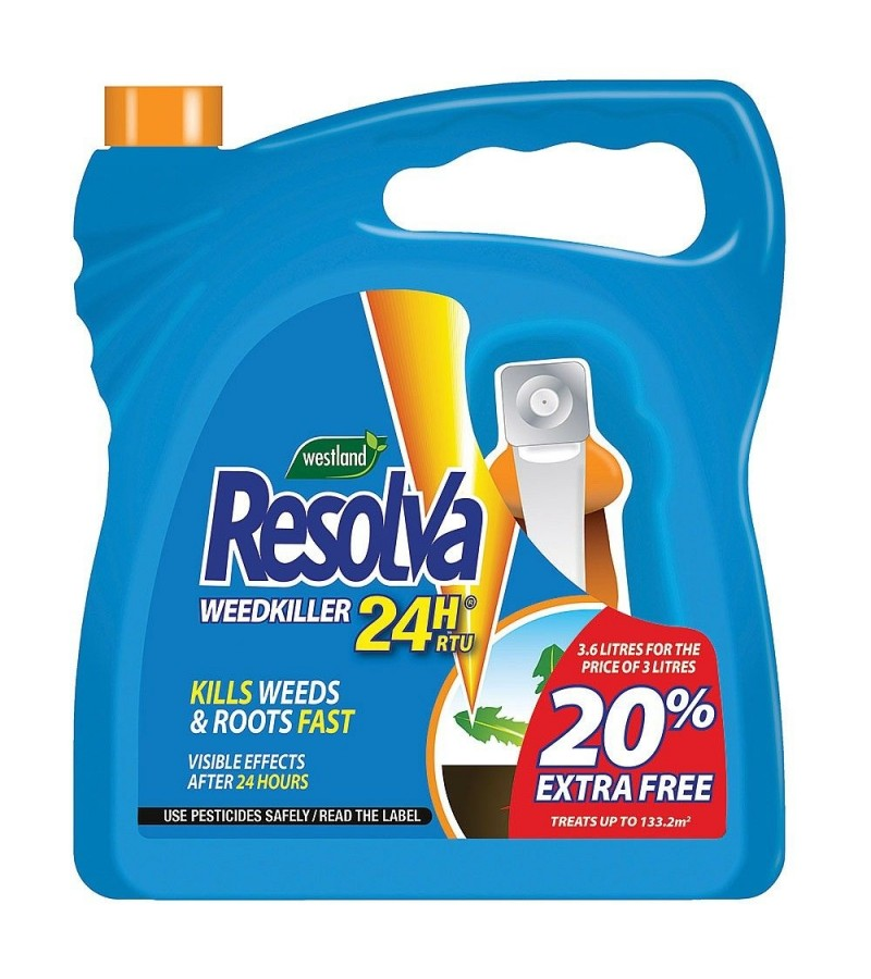 Resolva 24H Ready To Use Weedkiller 3L