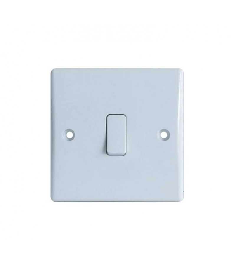 Dencon 1 Gang 2W 10A Slimline Switch (3402NB)