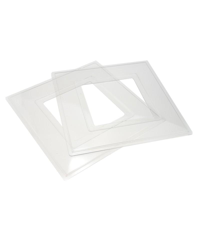Dencon 2 Gang Finger Plate (2 Pack) White (8806/2NB)