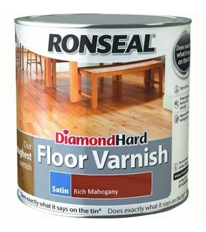 Ronseal Diamond Hard Floor Varnish 2.5L Rich Mahogany
