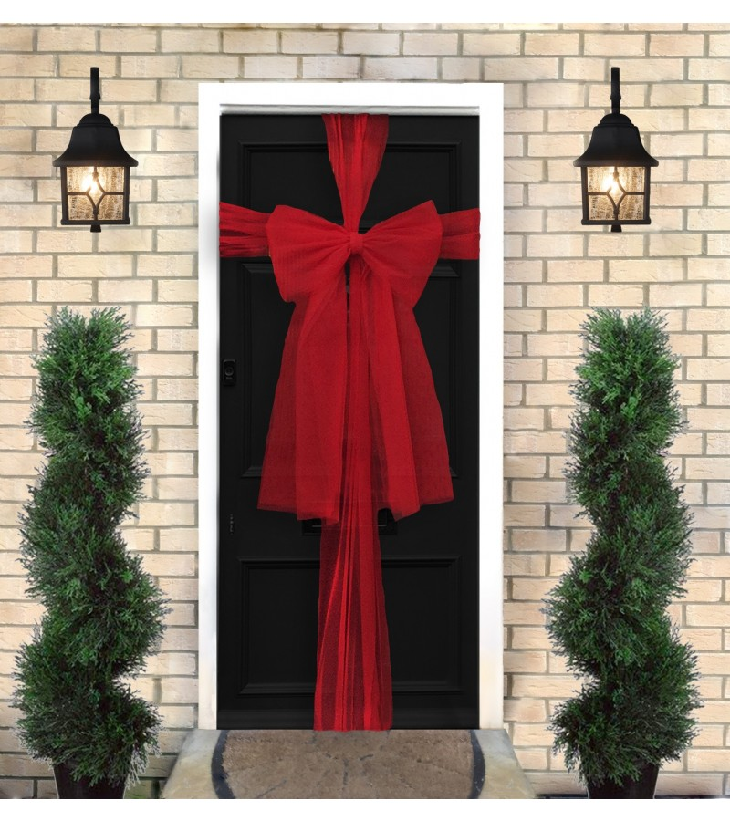 Christmas Door Bow Kit - Red