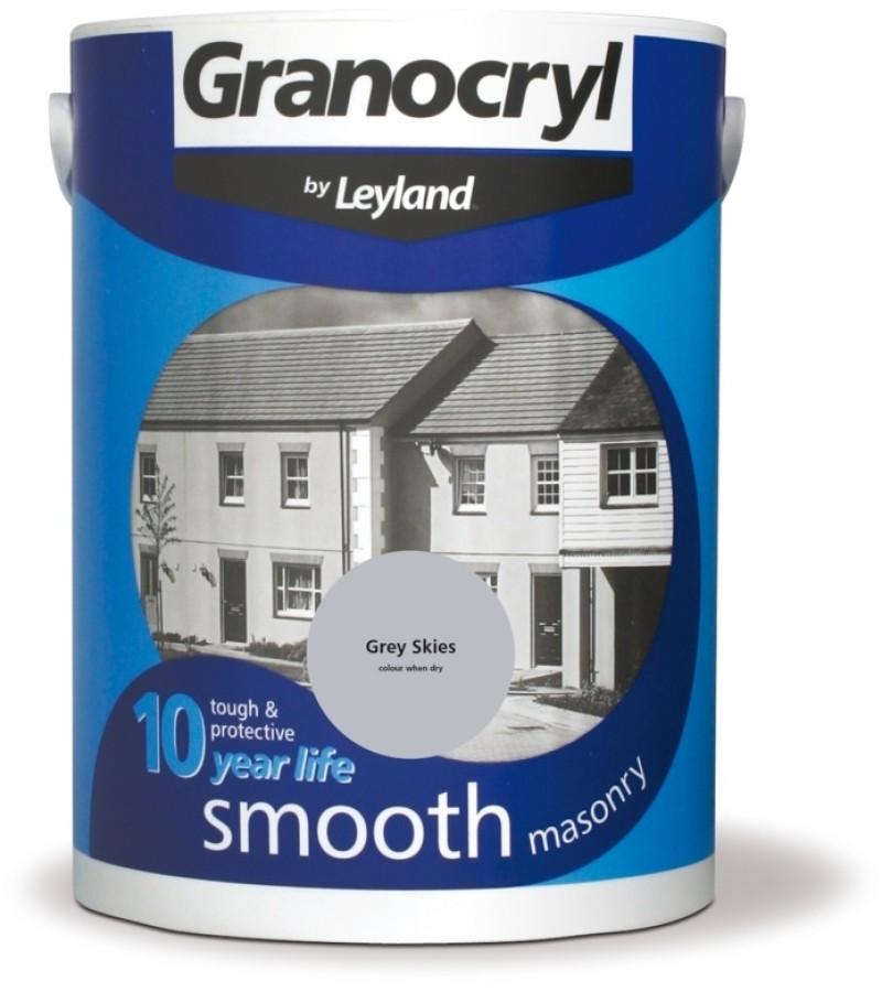Granocryl Smooth Masonry Paint 5L Grey Skies