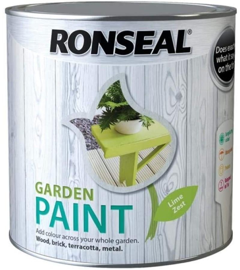 Ronseal Garden Paint 750ml Lime Zest