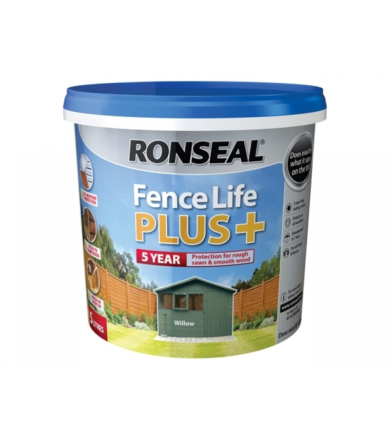 Ronseal Fence Life Plus + 5L Willow