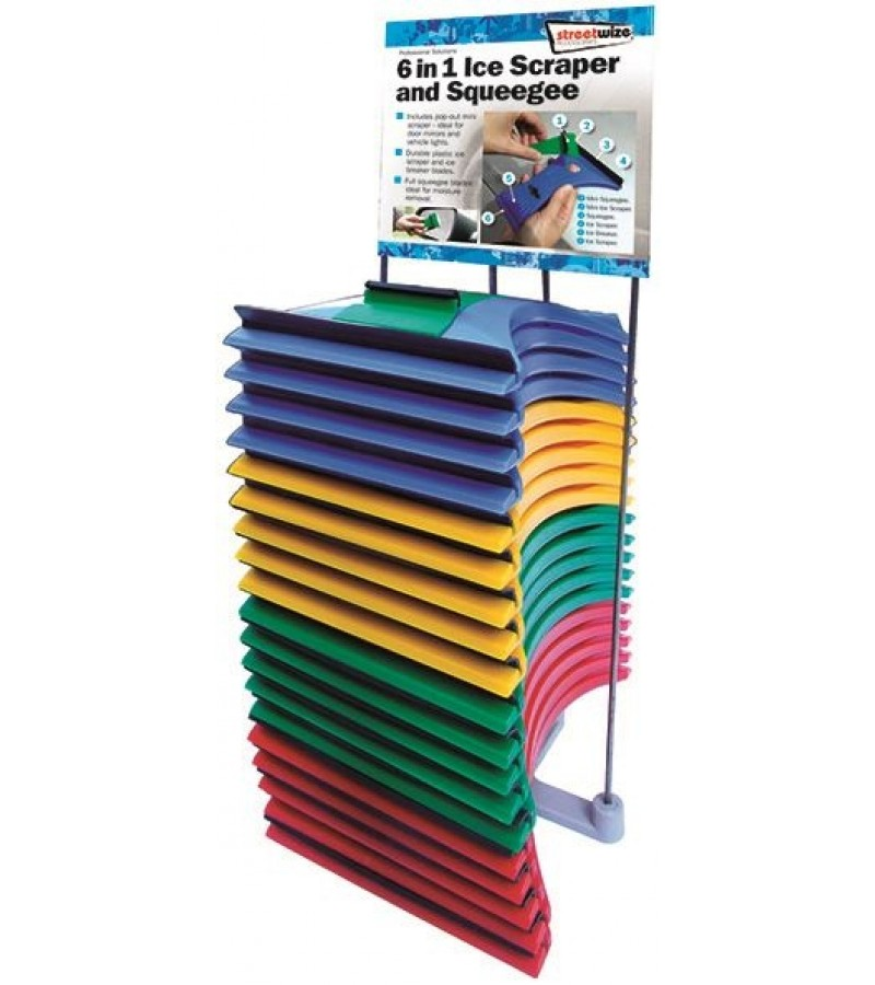6 in 1 Scraper and Squeegee - Assorted