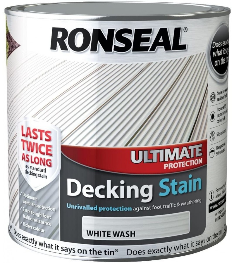 Ronseal Ultimate Protect Decking Stain 2.5L Whitewash