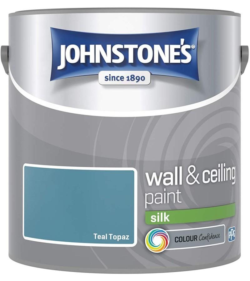 Johnstones Vinyl Emulsion Paint 2.5L Teal Topaz Silk