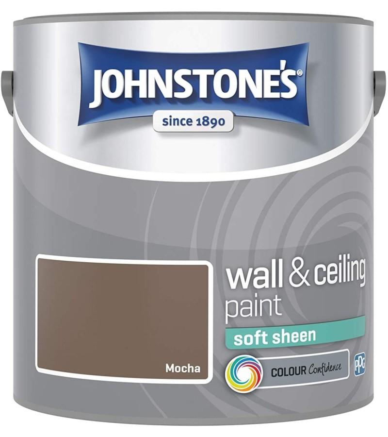 Johnstones Vinyl Emulsion Paint 2.5L Mocha Soft Sheen