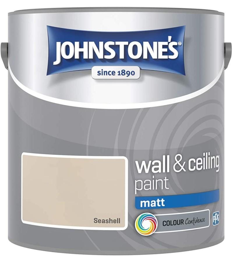 Johnstones Vinyl Emulsion Paint 2.5L Sea Shell (Matt)