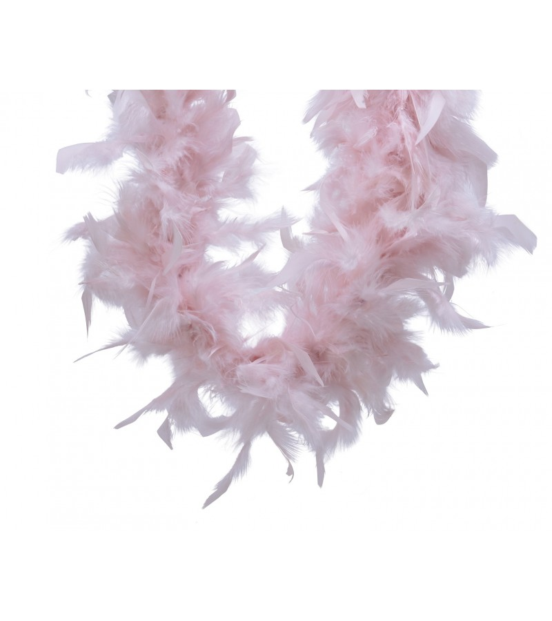 Christmas Feather Boa Garland 150cm Blush Pink