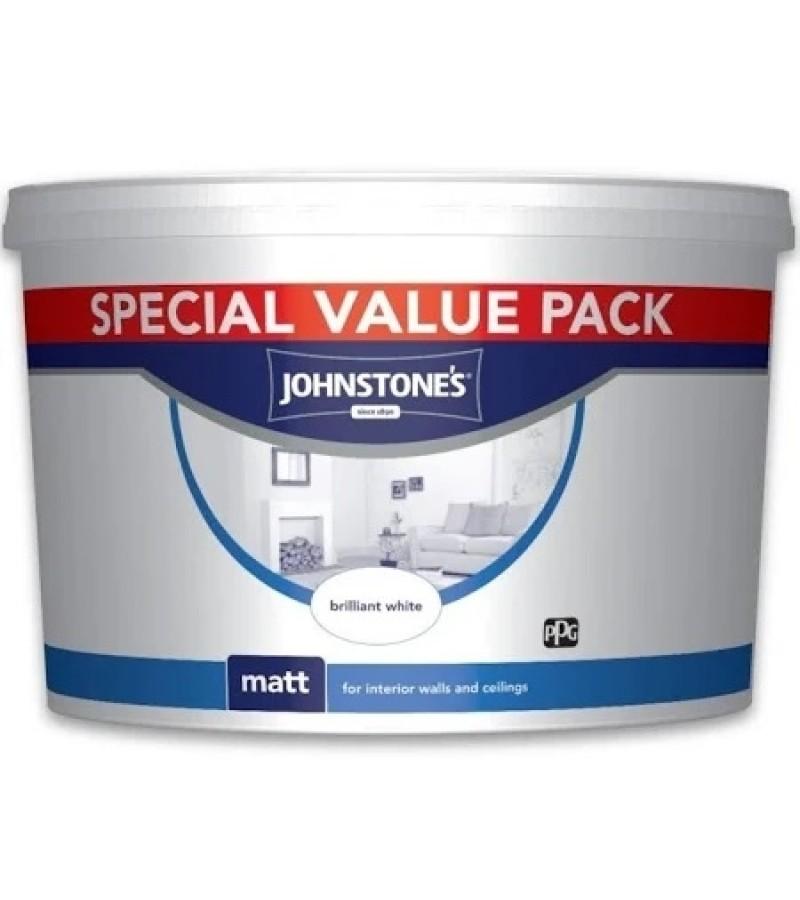 Johnstones Matt Emulsion 7.5L Brilliant White