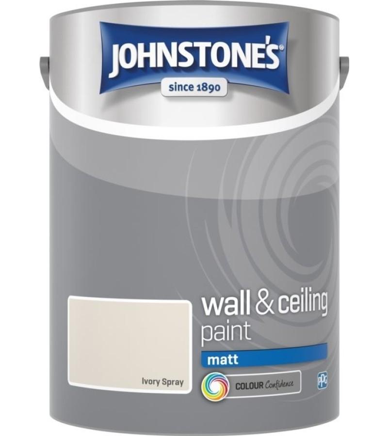 Johnstones Vinyl Emulsion Paint 5L Ivory Spray (Matt)