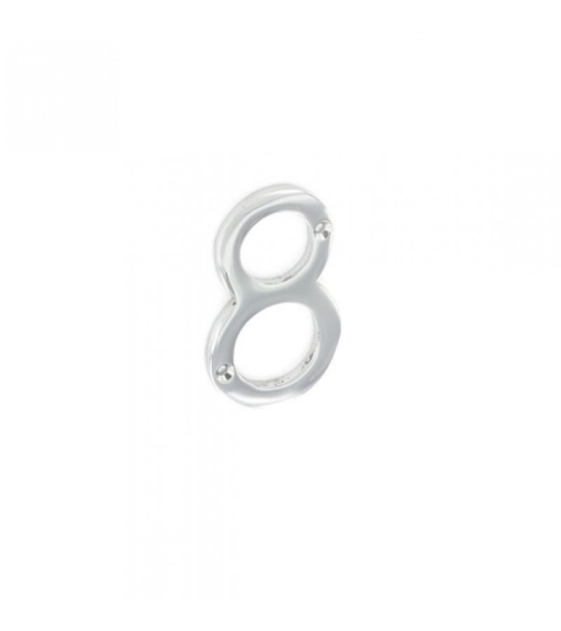 Securit S2968 75mm Numeral 8 (Chrome)