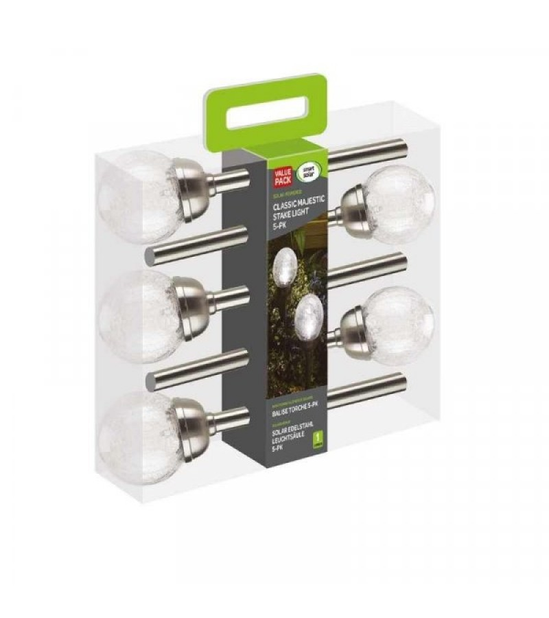 Solar Powered Classic Majestic Stake Lights (5 Pack)