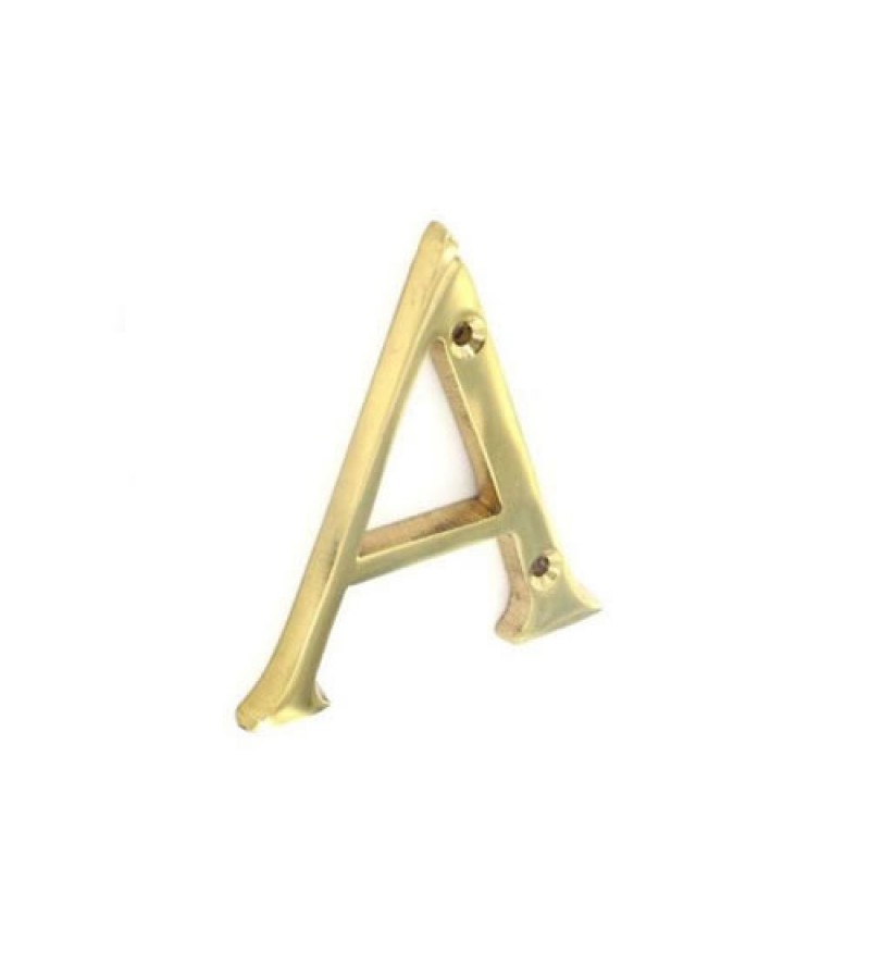 Securit S2510 Brass Letter A  75mm
