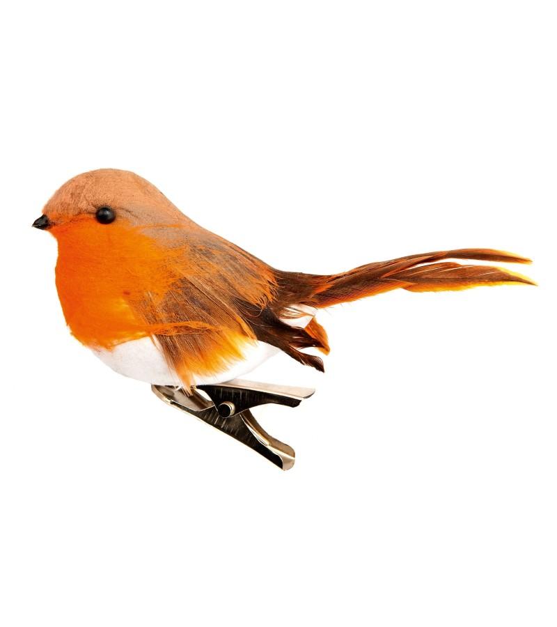 Christmas Robin On A Clip