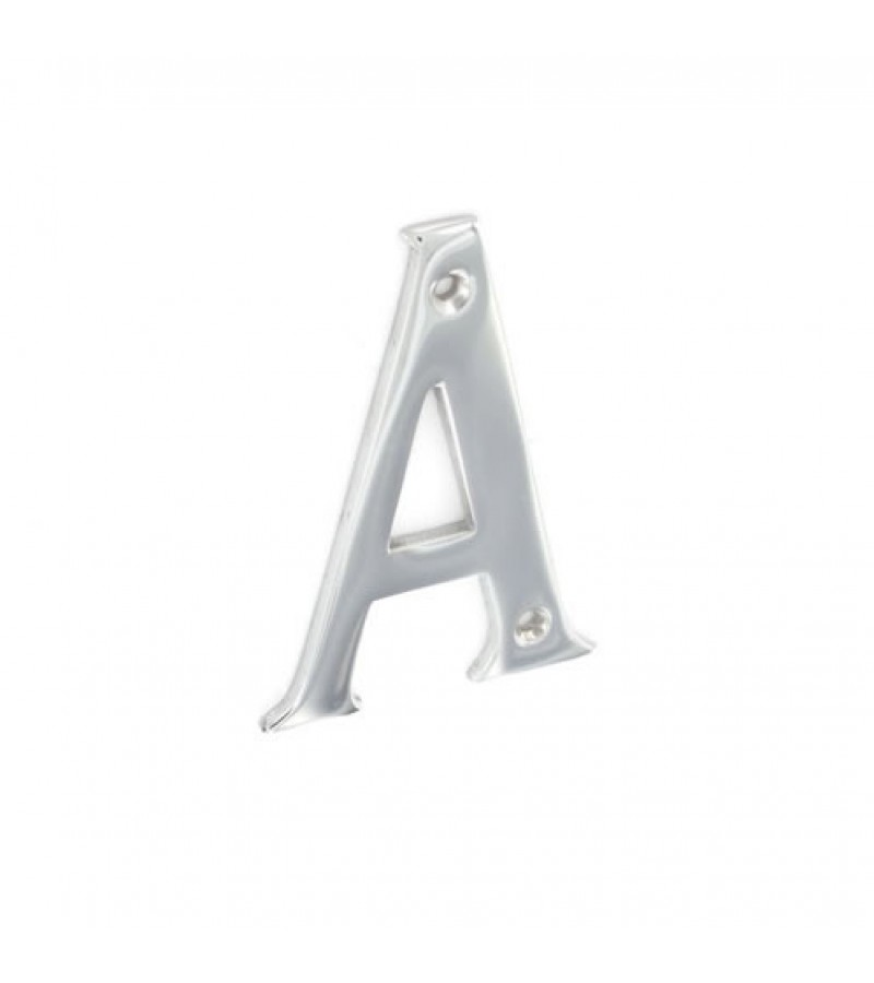 Securit S2958 Chrome Plated Letter A 75mm