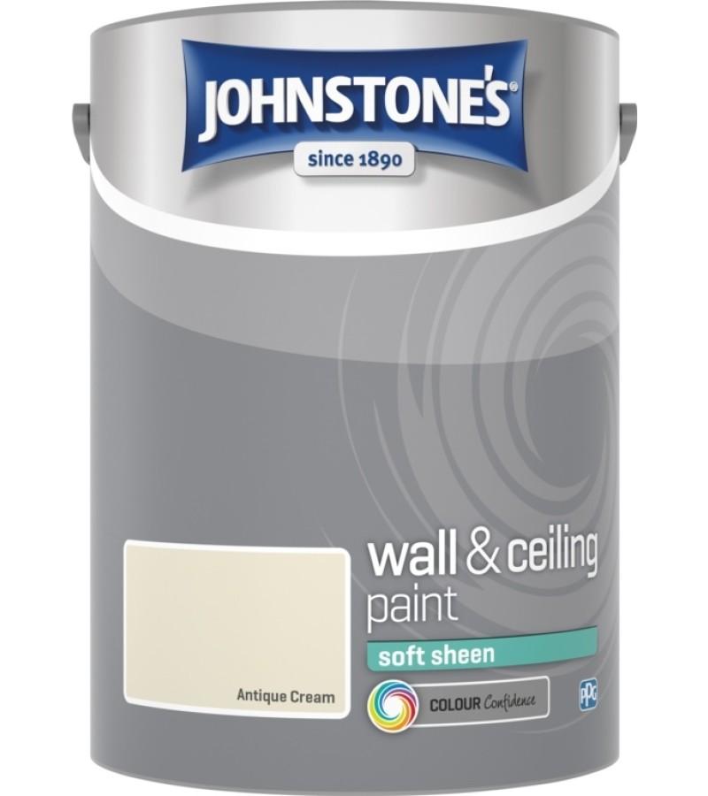 Johnstones Vinyl Emulsion Paint 5L Antique Cream (Soft Sheen)