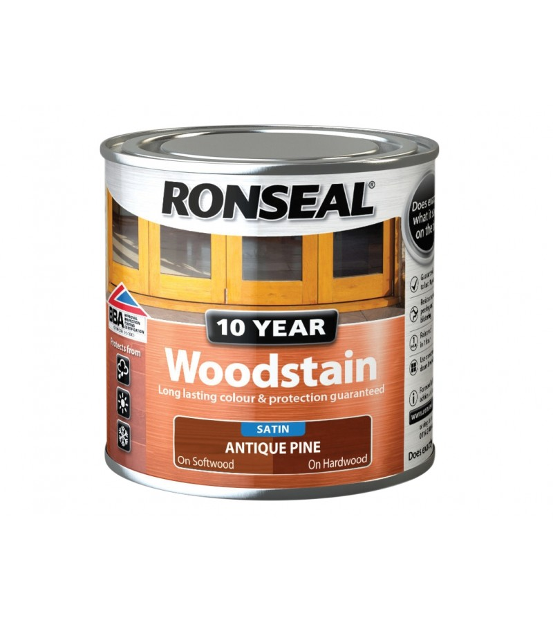 Ronseal 10 Year Woodstain Antique Pine Satin 250ml