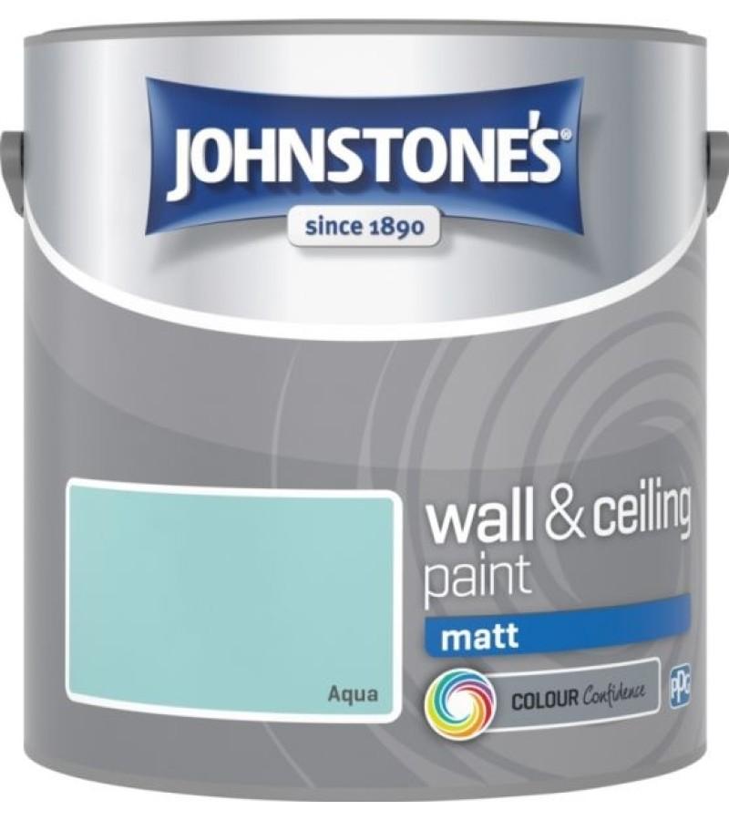 Johnstones Vinyl Emulsion Paint 2.5L Aqua Matt