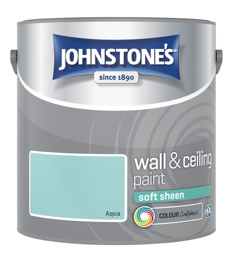 Johnstones Vinyl Emulsion Paint 2.5L Aqua Soft Sheen