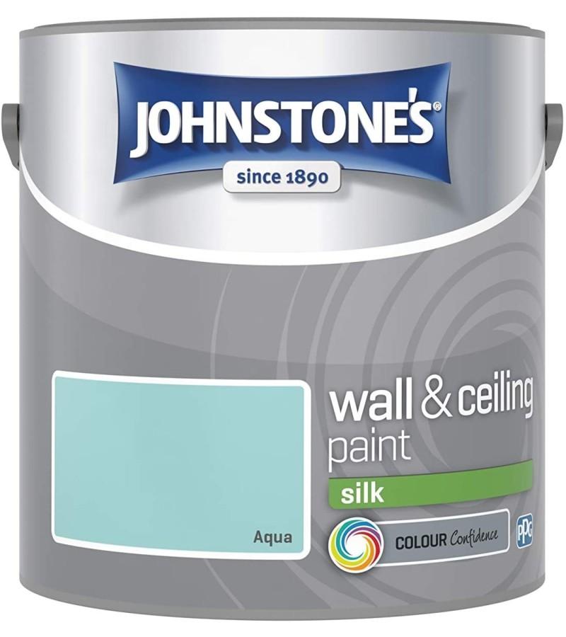 Johnstones Vinyl Emulsion Paint 2.5L Aqua Silk