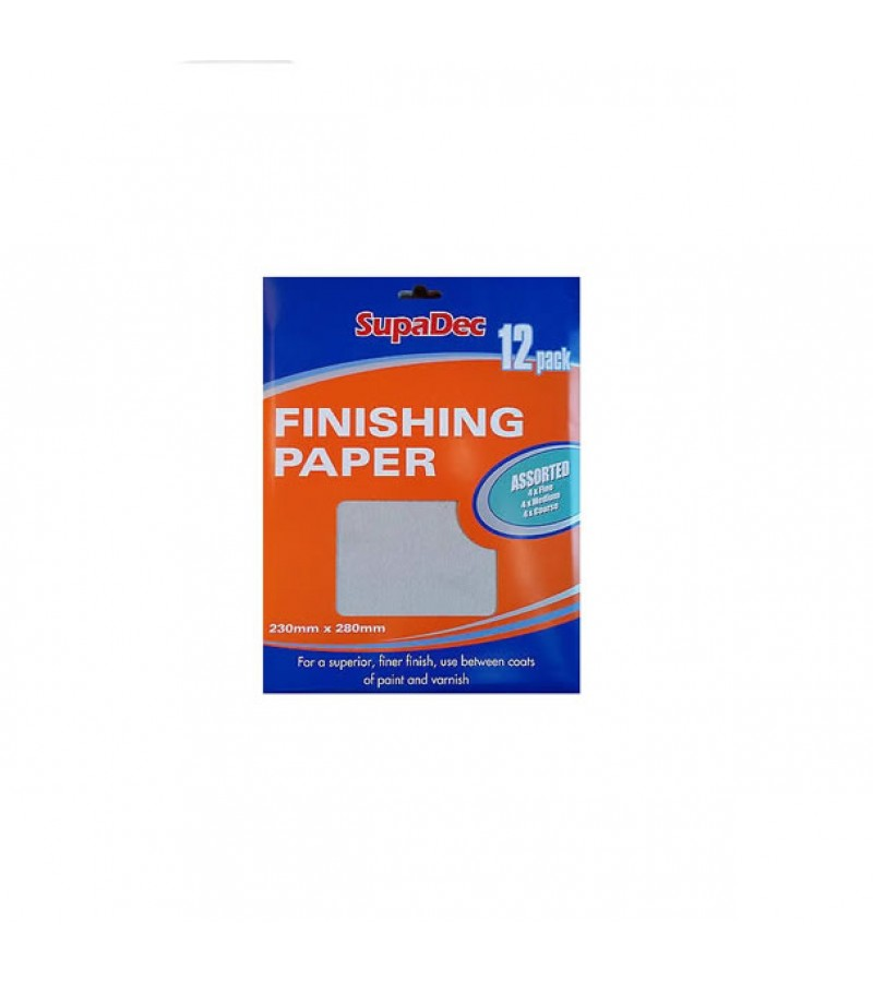Supadec Assorted Finishing Paper (12 Pack)
