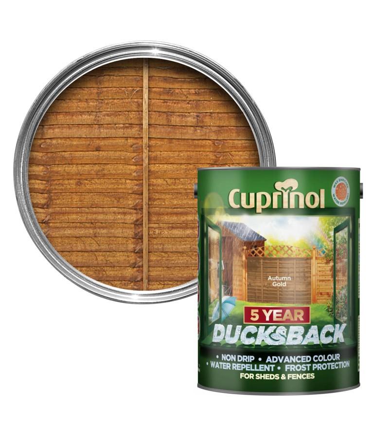 Cuprinol 5 Year Ducksback 5L Autumn Gold