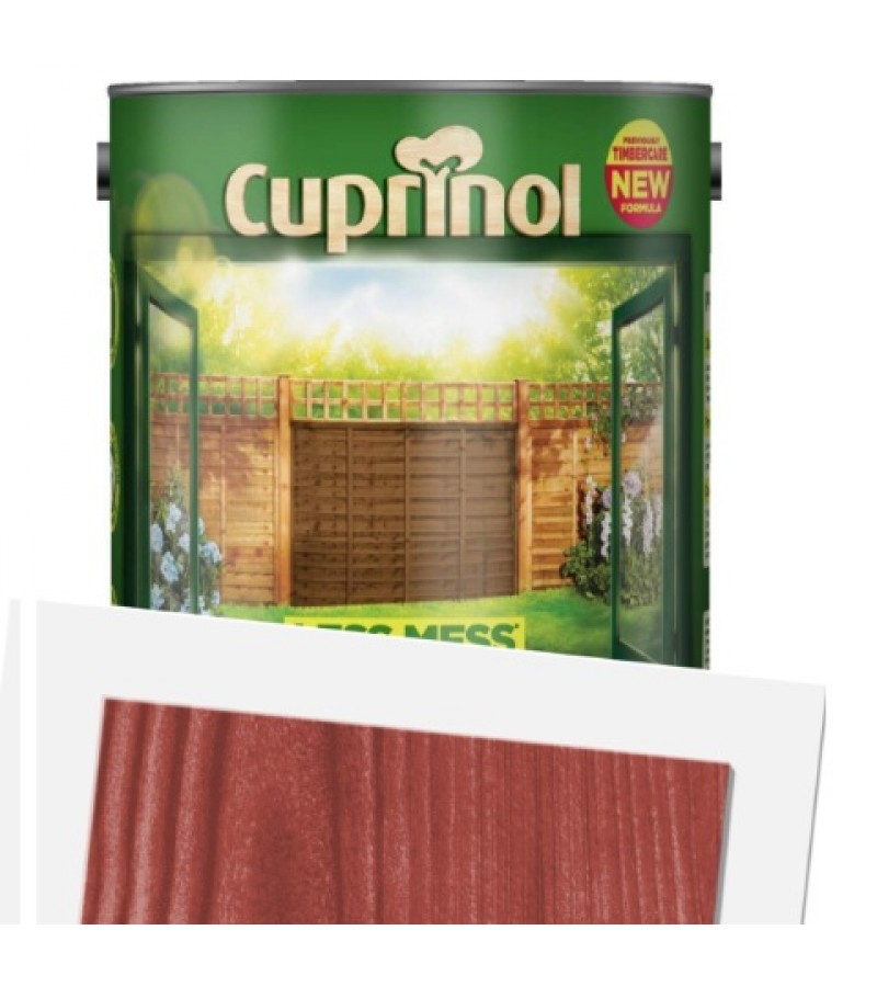 Cuprinol Less Mess Fence Care 6L Autumn Red