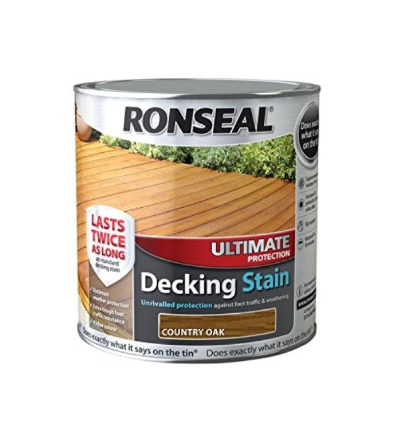 Ronseal Ultimate Protection Decking Stain 2.5L Country Oak