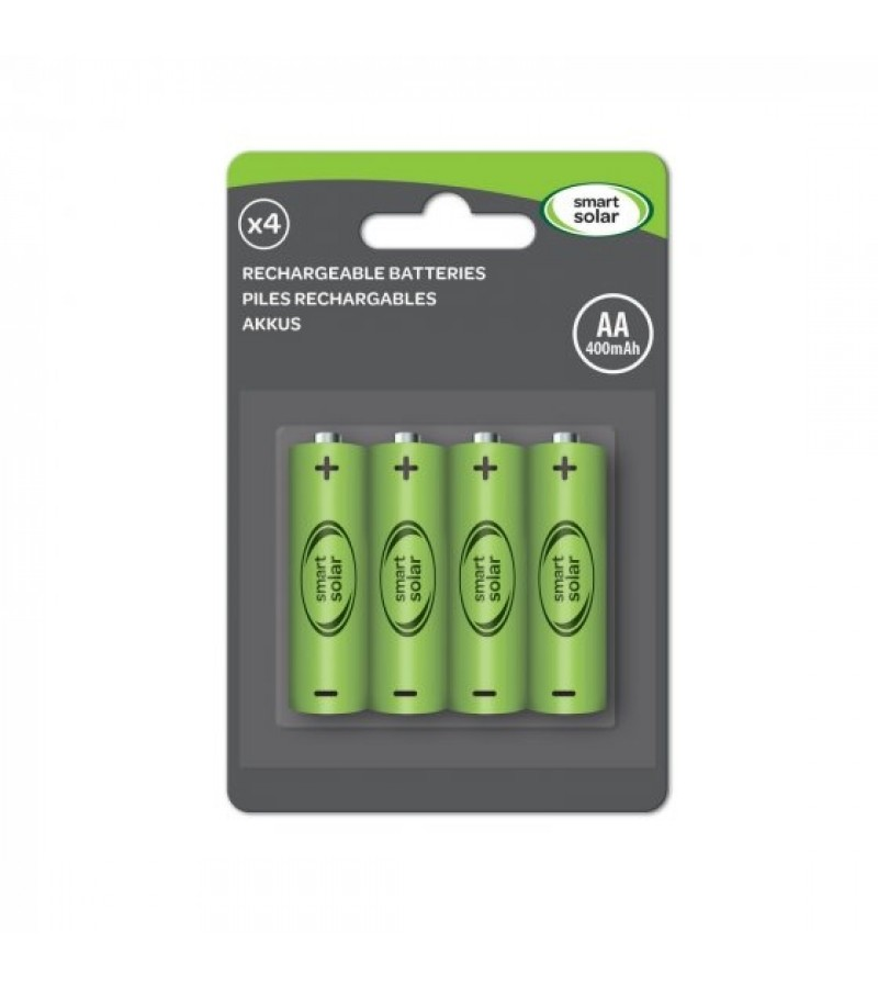 Smart Solar Rechargeable Batteries AA (4 Pack)