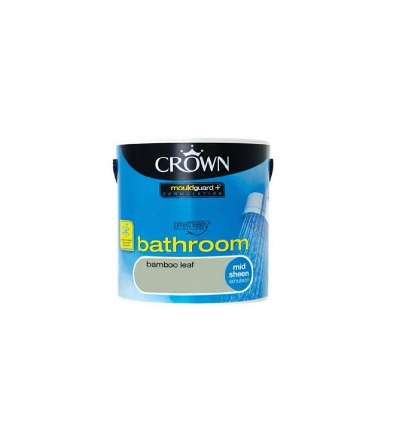 Crown Bathroom Paint 2.5L Bamboo Leaf (Mid-sheen)