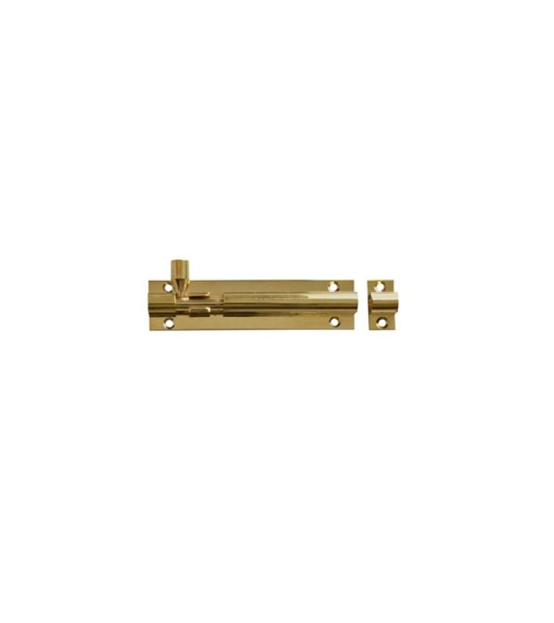 "Securit S1524 Brass Door Bolt 3"" Wide 75mm"