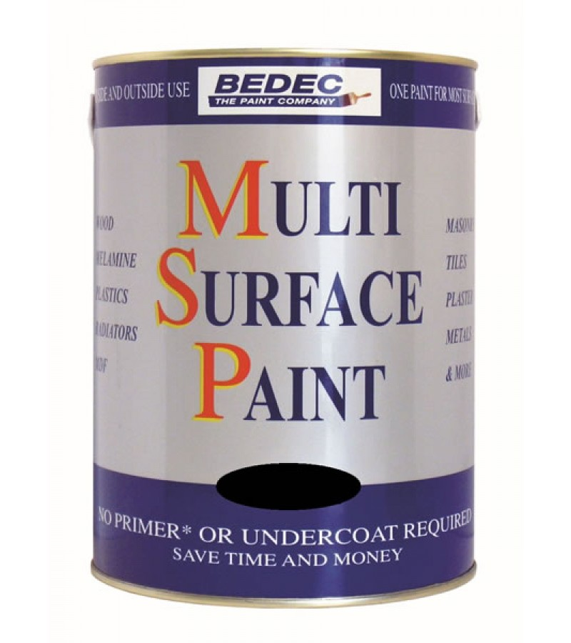 Bedec Multi Surface Paint 750ml Silver Satin
