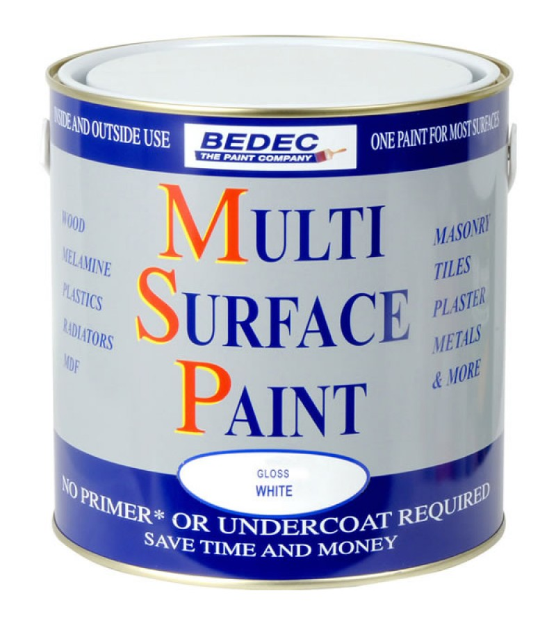 Bedec Multi Surface Paint 2.5l White Gloss