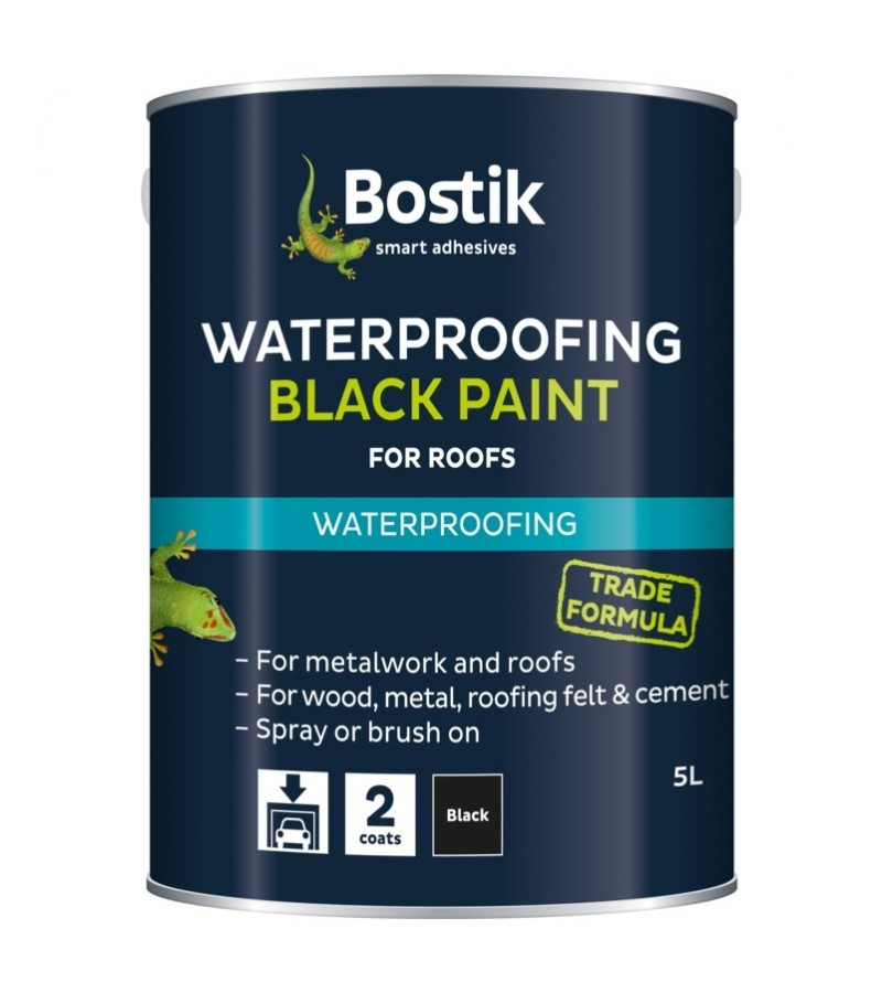 Bostik Waterproofing Black Paint 1L