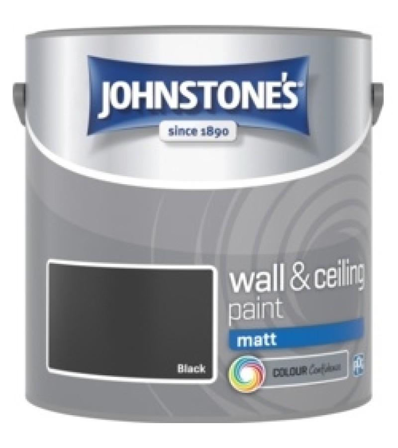 Johnstones Vinyl Emulsion Paint 2.5L Black (Matt)